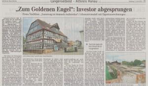 """""""Zum Goldenen Engel"""": Investor abgesprungen"""